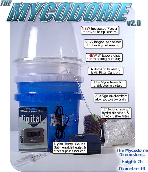 The Mycodome 3 in 1 Mushroom Growing System